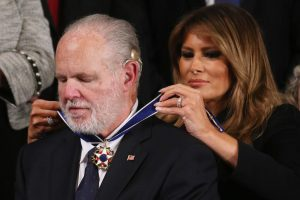 Rush Limbaugh with First Lady Melania Trump, State of the Union Speech 2020